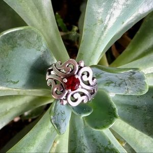 James Avery Ruby Scroll Ring